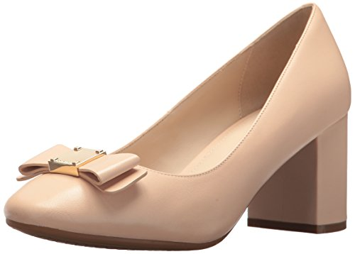 Cole Haan Women's Tali Bow Pump, Nude Leather, 6.5 B US ()