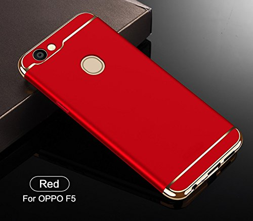 competitive price f0325 9b4c7 SPL New Chrome 3IN1 Luxury Full body Protective Back cover for OPPO F5 (Red)