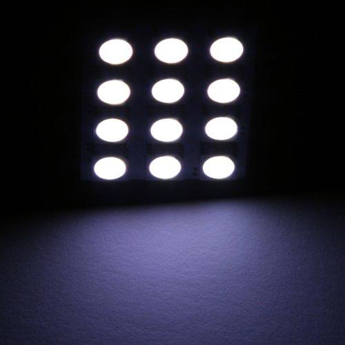 Kingzer 12 SMD 5050 White Light Panel T10 BA9S Festoon car 12 LED Interior Lamp Bulb from KINGZER