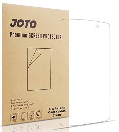 LG G Pad X8.3 Screen Protector (Verizon 4G LTE LG G Pad X8.3 VK815) - JOTO Ultra HD Crystal Clear (Invisible) Screen Protector Film Guard for LG G Pad X8.3 (Verizon), with (3 Pack)