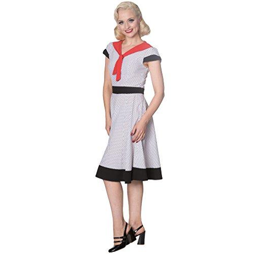 Banned - Vestido - Noche - para mujer Weiß