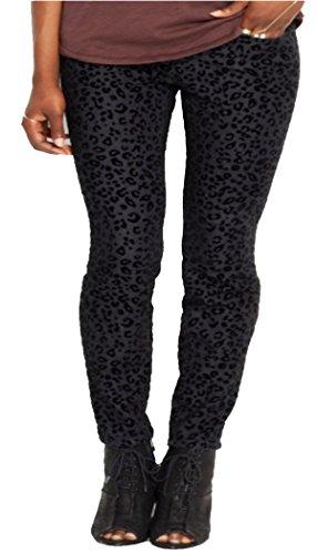 RACHEL Rachel Roy Skinny Textured Leopard-Print Jeans, Bl...
