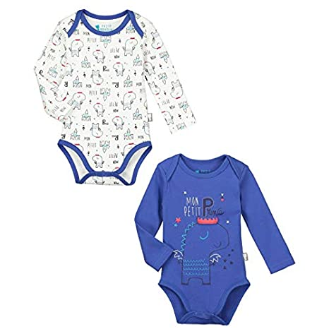 Lot de 2 bodies manches longues bébé garçon Petit Prince - Taille - 3 mois (62 cm) Petit Béguin