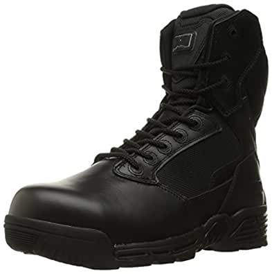 "Magnum Men's Stealth Force 8"" Side Zip Waterproof Comp Toe I Shield Military and Tactical Boot, Black, 7 M US"