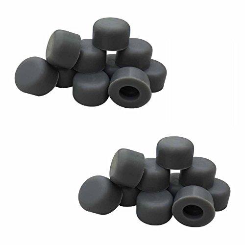 20 Grey Door Stop Bumper Tips Silicone 1/4