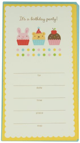 Prima 200275 Party Invitation Card Set, Cupcake, 4 by ()