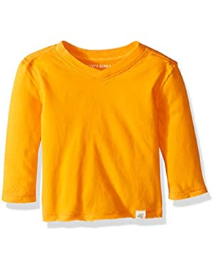 Baby Boys' Organic High V-Neck Long Sleeve Tee