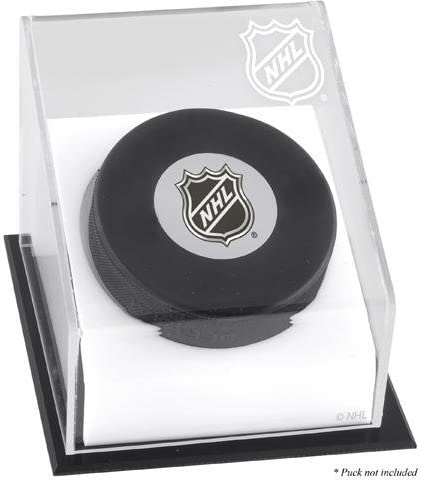NHL Shield Puck Display Case - Hockey Puck Free Standing Display Cases