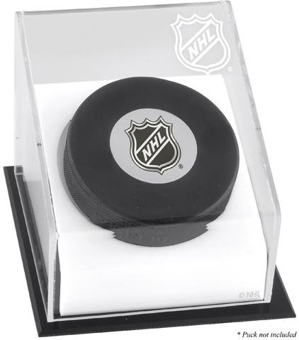Hockey Puck Logo Display Case | Details: NHL ()