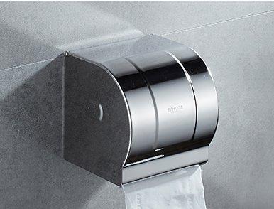 Toilet paper rack stainless steel,Restroom Punch-free Toilet paper shelf Stainless steel Pumping carton Roll paper box-B
