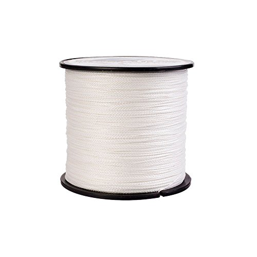 - Hercules Braided Fishing Line 300m 328yds 6lbs-100lbs Pe Dyneema Superline 4 Strands (White 60lb/27.2kg 0.40mm)
