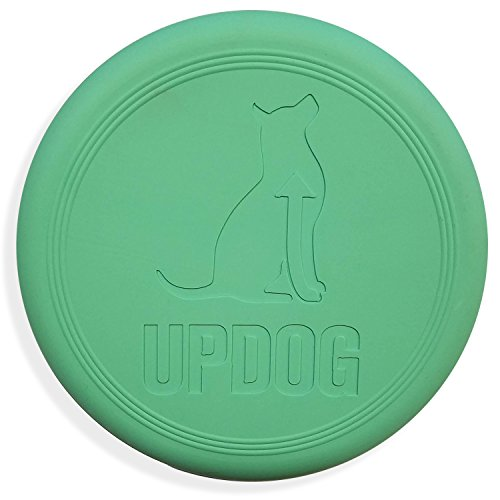 Dog Frisbee | UpDog Products Ultra Tough Chew Resistant Flying Disc for Dogs | Made in USA (Mint Scented)