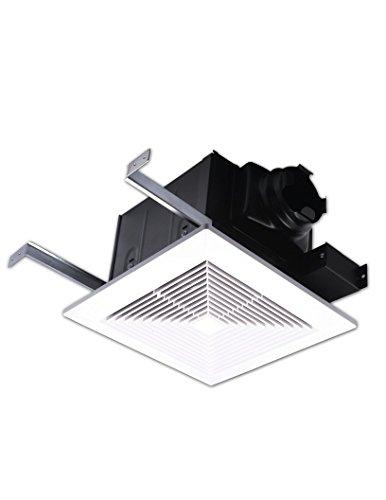 AirZone Fans PA500V Premium Ultra Quiet Exhaust Ventilation Fan, AC Motor, 0.3 Sones, 50 CFM, 4 Duct