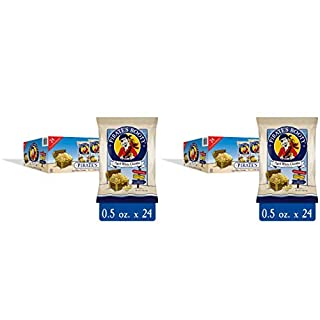 Pirate's Booty Cheese Puffs, Healthy Kids Snacks, Real Aged White Cheddar, (Pack of 24) (.5 Ounce) Individually Sized Bags, Pack of 2