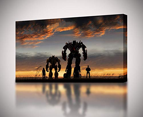 Transformers Bumble Bee Poster - Dizzy Bumblebee Canvas Print Giclee Wall Art Poster Transformers Autobots CA1177, Large