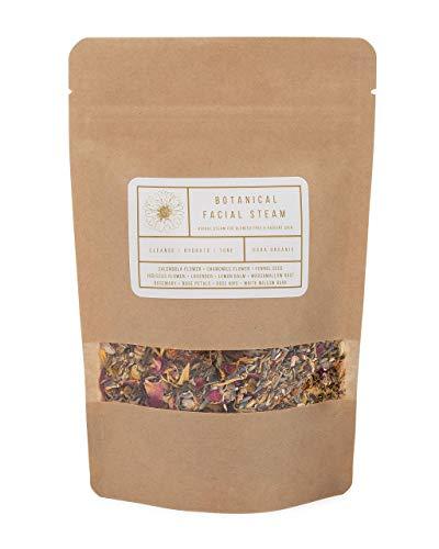 Botanical Facial Steam + Toner | 4 Steams | Organic Skin Care | All Skin Types | Cleanse, Hydrate, Tone | USDA Organic Herbs | Wildflower Wellness