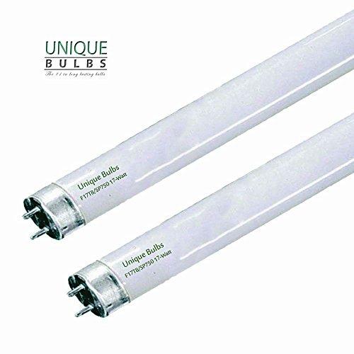 (Pack of 2) F17T8/750 24' 17 Watt STRAIGHT T8 fluorescent tube light bulb,