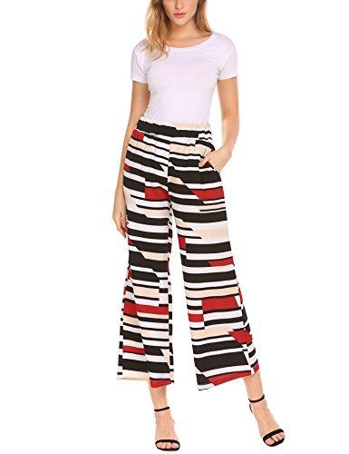 Striped Wide Leg Trousers - 8