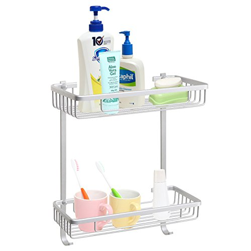 Aluminum Mounted Bathroom Accessory Organizer