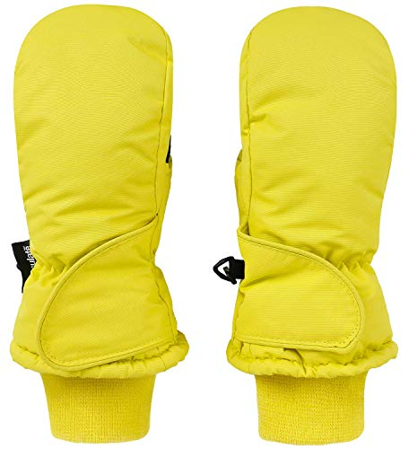 Livingston Kid's Thinsulate Lining Waterproof Winter Ski Mittens, Yellow, Age2-3