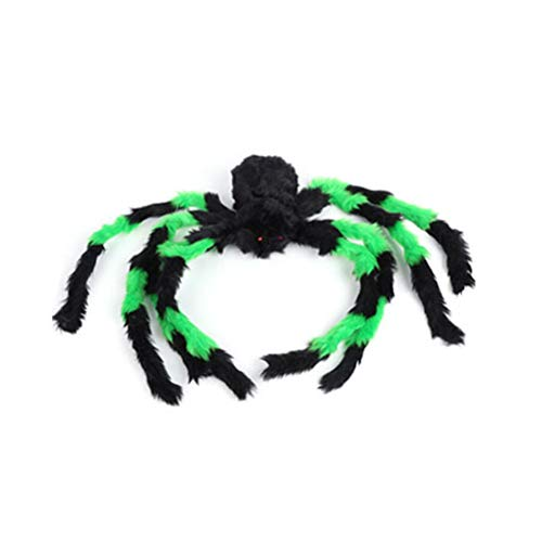 Spider Decorations with Scary Red Eyes Large Hairy Poseable Spider Scary Prop Halloween Decorations for Haunted House]()