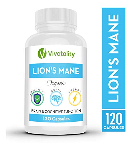Lions Mane Nootropics Memory Supplement 1000 mg Lion s Mane Mushroom Extract Supplements for Nervous System Support – Natural Brain, Immunity Energy Enhancer – Vegan Organic, 120 Capsules