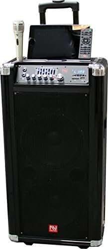 Nutek Powered Portable Sound System Bluetooth Speaker FM Radio and USB/SD