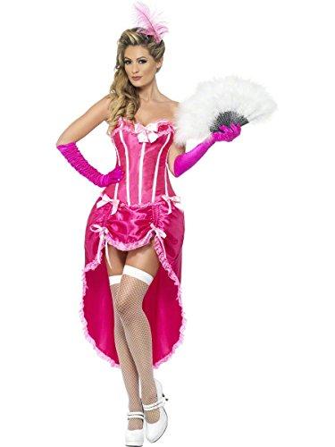 Smiffy's Burlesque Dancer Costume, Pink, Large