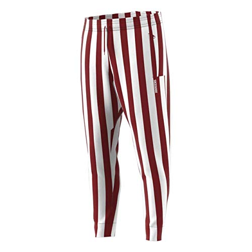 - Indiana Hoosiers Adult Candy Stripe Pants - Crimson , Large