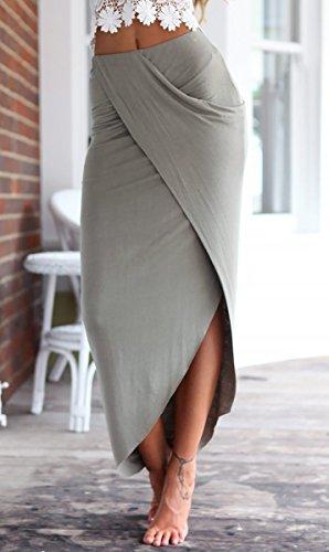 Franja Verano M Set S de Mujeres Tubo Aivtalk Encaje L de de Y Gris Blanco Ropa Falda Blanco Gris Casual Top XL 2 Talla y Playa Falda Vestido con Camiseta S87wIqd