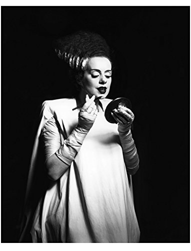 The Bride of Frankenstein Elsa Lanchester Applying Make Up on Set 8 x 10 Inch Photo -