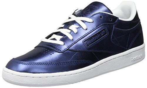 Reebok Club C 85 S Shine, Baskets Femme Bleu (Royal Dark Bluewhite)