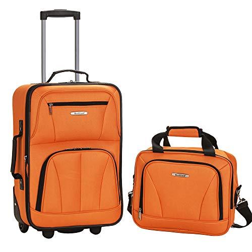 Rockland Luggage 2 Piece Set, Orange, One Size