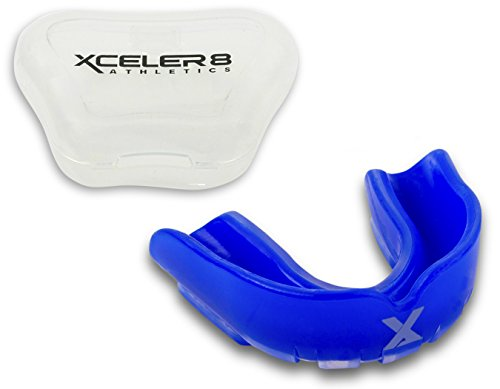 XCELER8 Athletics Youth Mouth Guard – Custom Match, Chew Resistant Protection for All Kids Sports – with Vented Case – DiZiSports Store