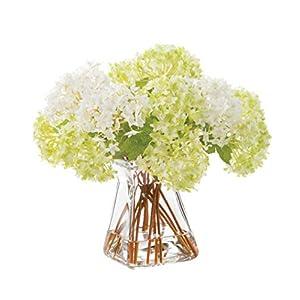 Petals Snowball Hydrangea Silk Flower Arrangement 21