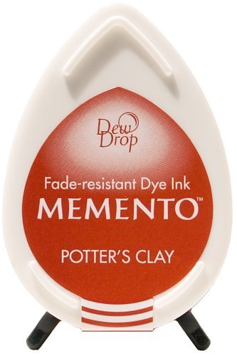 Memento Dew Drop Ink Pads Tsukineko Dew Drop Pad, Potters Clay by Memento Dew Drop Ink (Memento Potters Clay)
