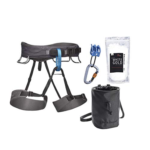 Black Diamond Momentum Climbing Harness Package - Men's Slate X-Large