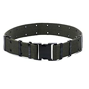 M-Tac GI Army Style Mens Pistol Tactical Duty Belt Military Canvas Plastic Buckle