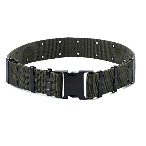 - M-Tac GI Army Style Mens Pistol Tactical Duty Belt Military Canvas Plastic Buckle (Olive)