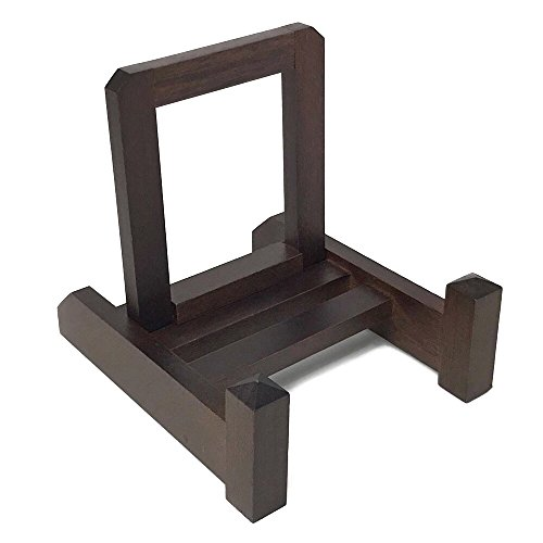 Wanizou Wooden Plate Display Stand, Photo Frame Stand, Art Stand, for Bowls, Books, Easel, Decorative Imported from Japan Size:M Fits 6