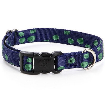"Speck-Tacular Collar Color: Navy, Size: Large (1"" H x 19"" - 26"" W)"