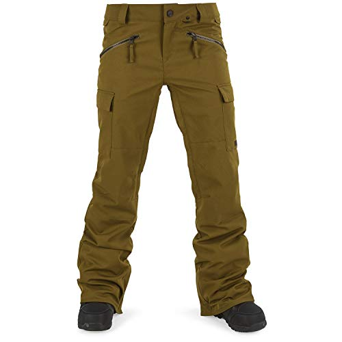 Volcom Junior's Robson 2 Layer Shell Snow Pant, Moss, Small