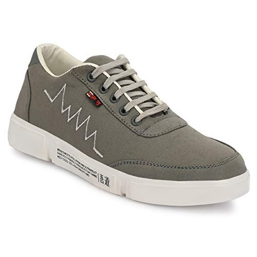 FANTUM – Men Mesh Running Sports Walking & Casual Sneakers Shoes (9 UK, Light Grey)