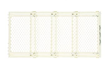 """Supergate Extra-wide Gate, Ivory, Fits Spaces Between 22"""" To 62"""" Wide & 31""""high 0"""
