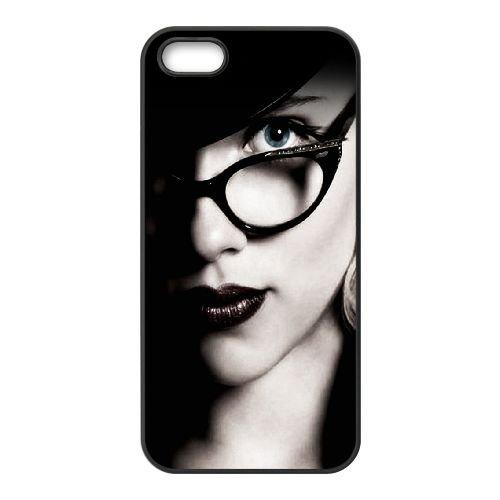 901 Scarlett Johansson L coque iPhone 4 4S cellulaire cas coque de téléphone cas téléphone cellulaire noir couvercle EEEXLKNBC22541