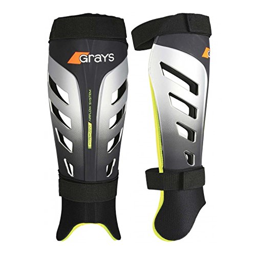 GRAYS G800 Shinguards Size: Small Black/Silver