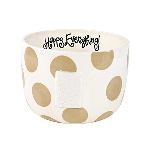 Happy Everything Big Bowl - Neutral Dot