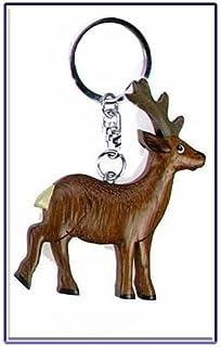 Habich Versand Ciervo Llavero Diseño de Corzo de Madera