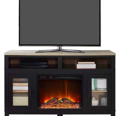 Cheap DesignTN- Entertainment Center with Fireplace-TV Console with Fireplace-Black-for TVs Up to 60 Inch-A Must-Have for Living Areas and Entertainment Spaces Black Friday & Cyber Monday 2019