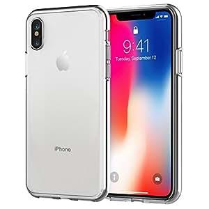 JETech Funda para Apple iPhone X iPhone 10, Carcasa Bumper, Shock-Absorción y Anti-Arañazos, HD Clara